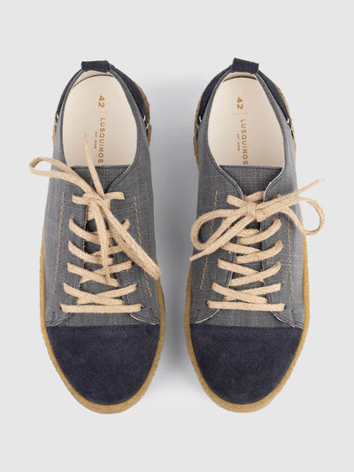 Lusquinos Blue Lace-up Shoes