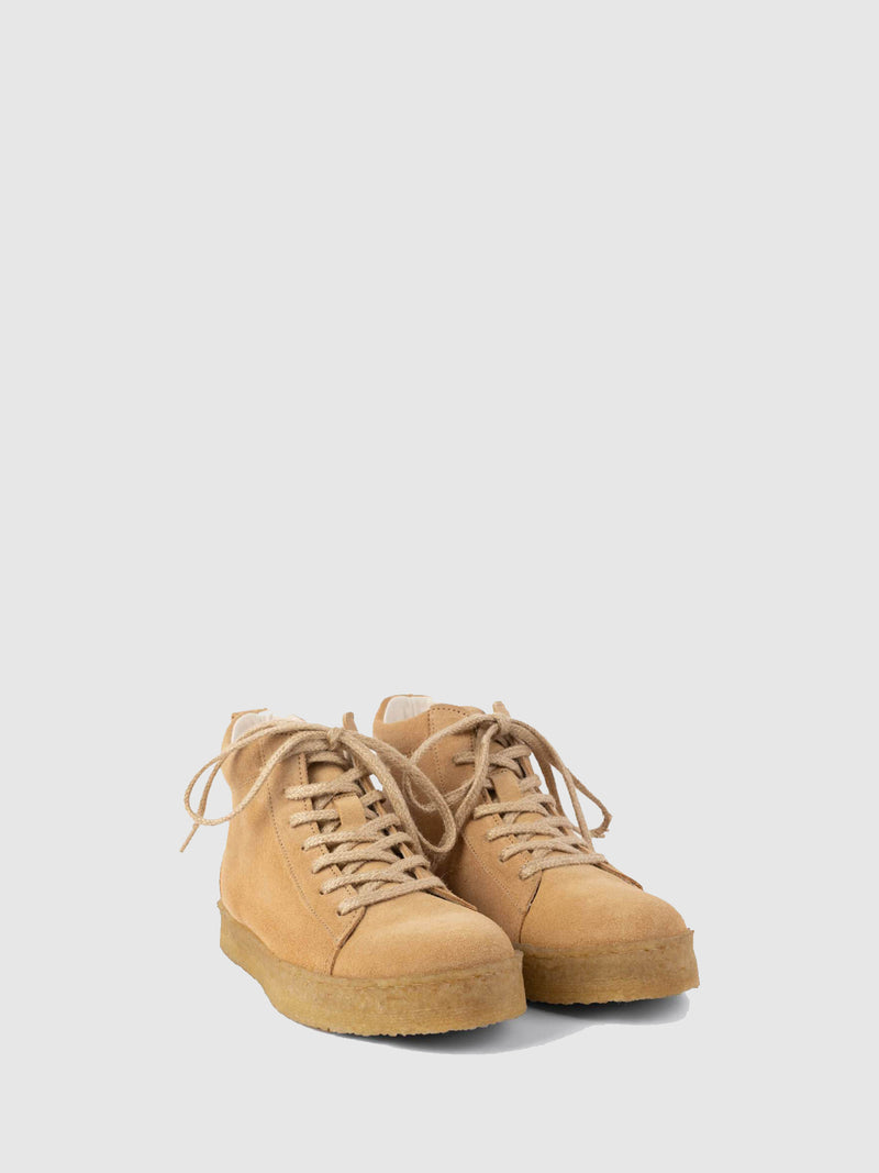 Beige Lace-up Shoes