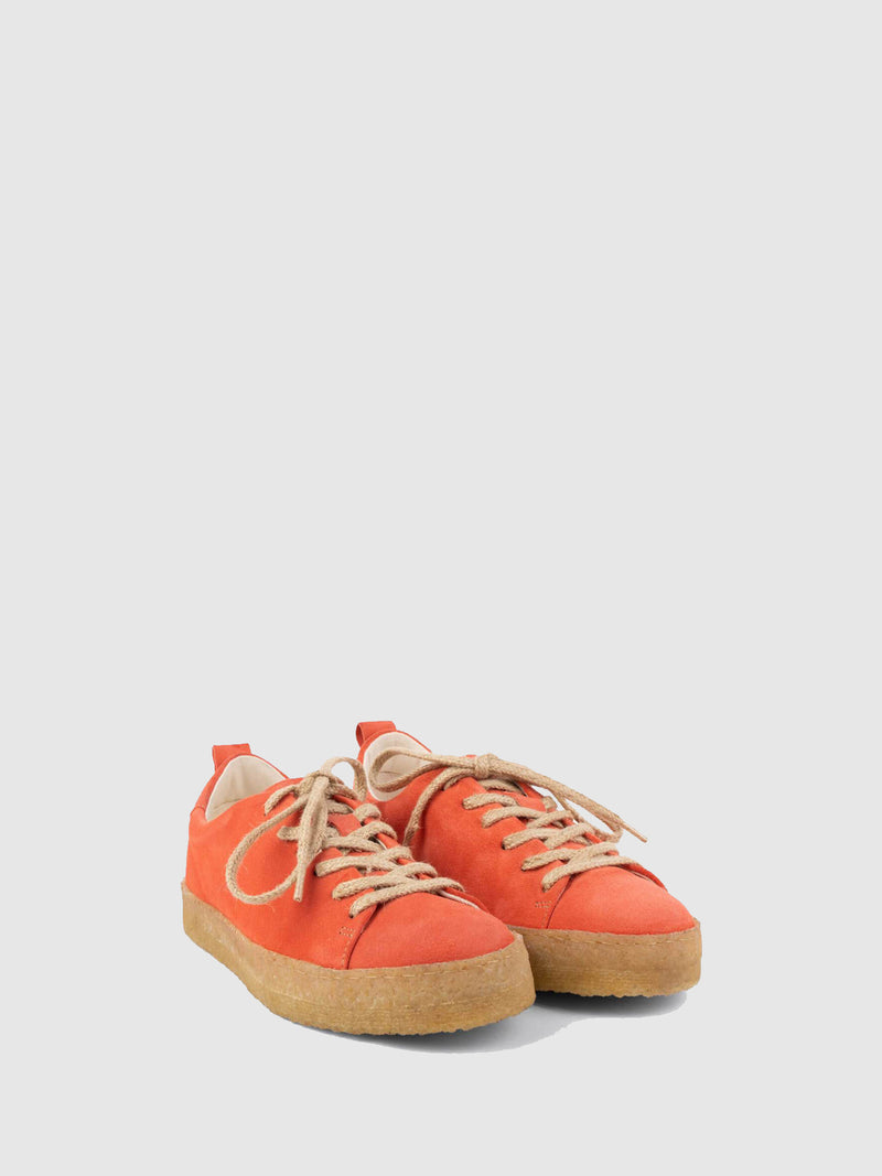 Coral Lace-up Shoes