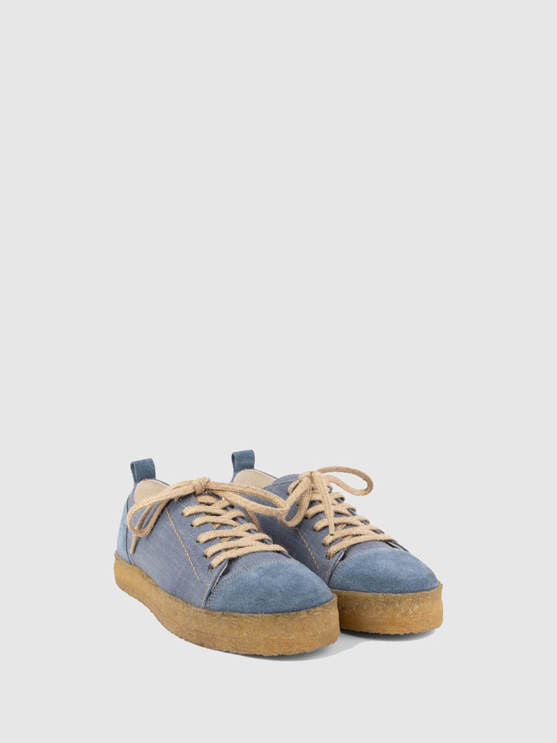Blue Lace-up Shoes