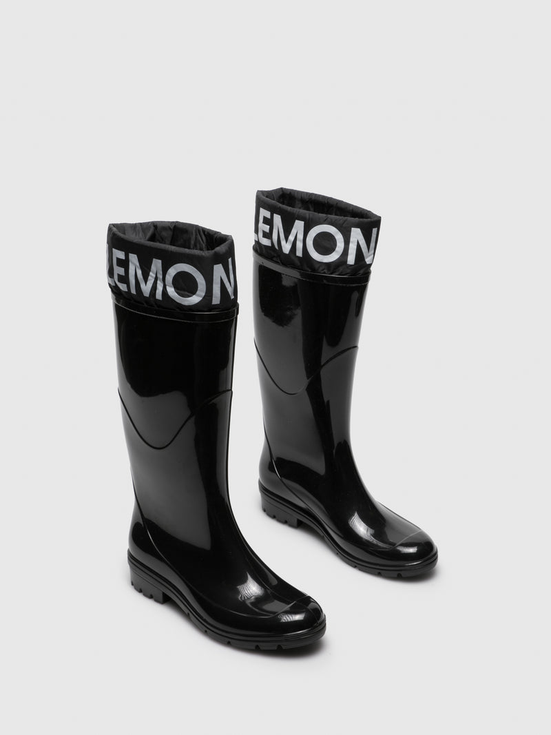 Lemon Jelly Black Knee-High Boots