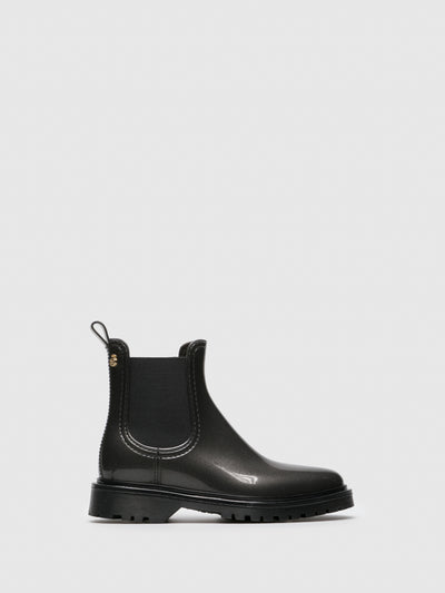 Lemon Jelly Gray Chelsea Ankle Boots
