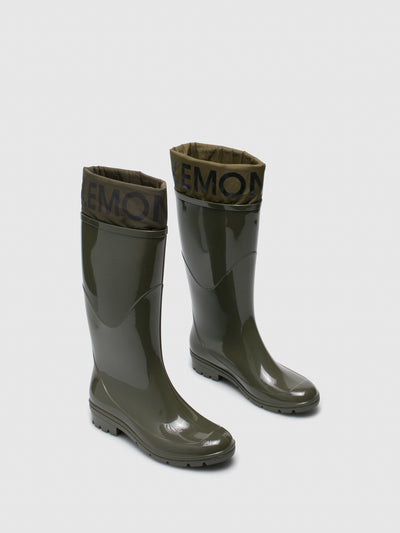 Lemon Jelly Green Knee-High Boots