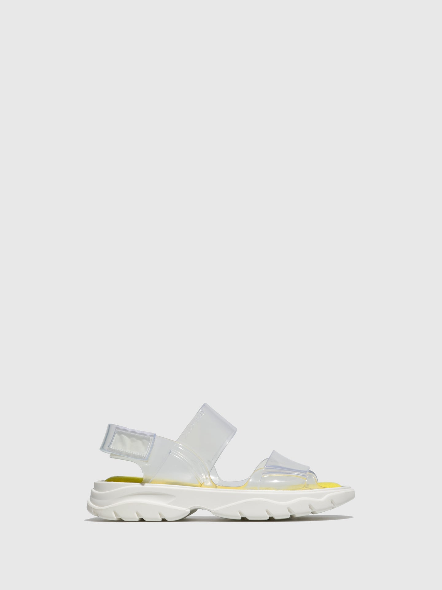 Lemon Jelly White Transparent Rubber Sandals