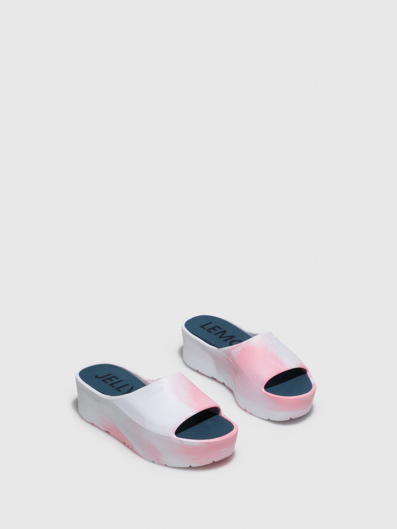 Lemon Jelly Pink Platform Mules