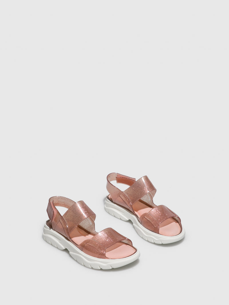 Lemon Jelly Pink Rubber Sandals