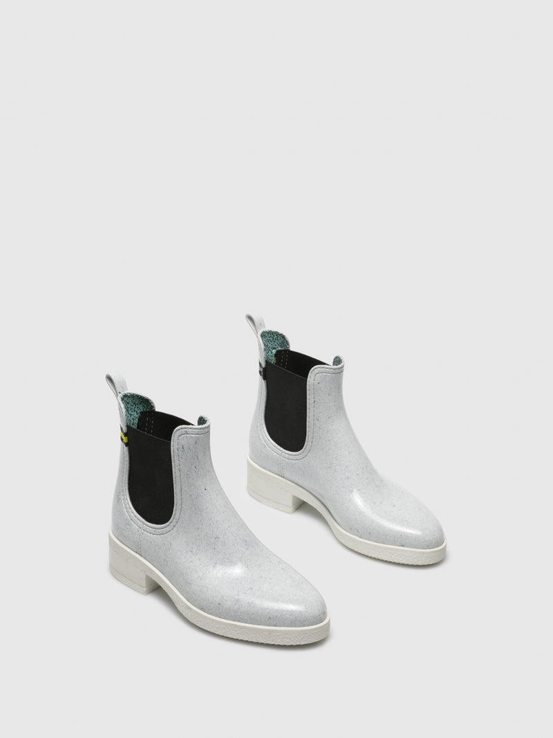 White Chelsea Ankle Boots
