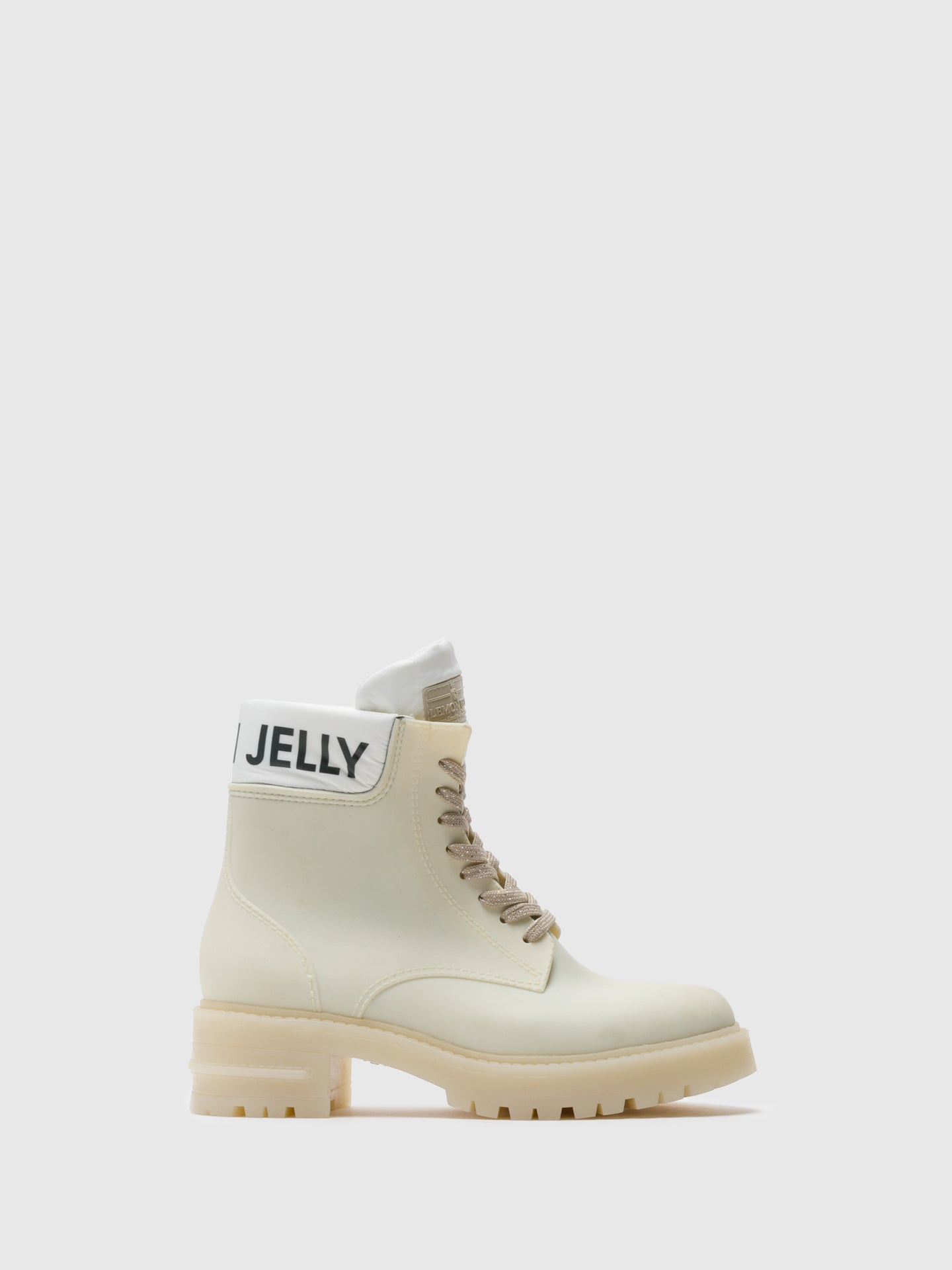 Lemon Jelly Beige Lace-up Ankle Boots