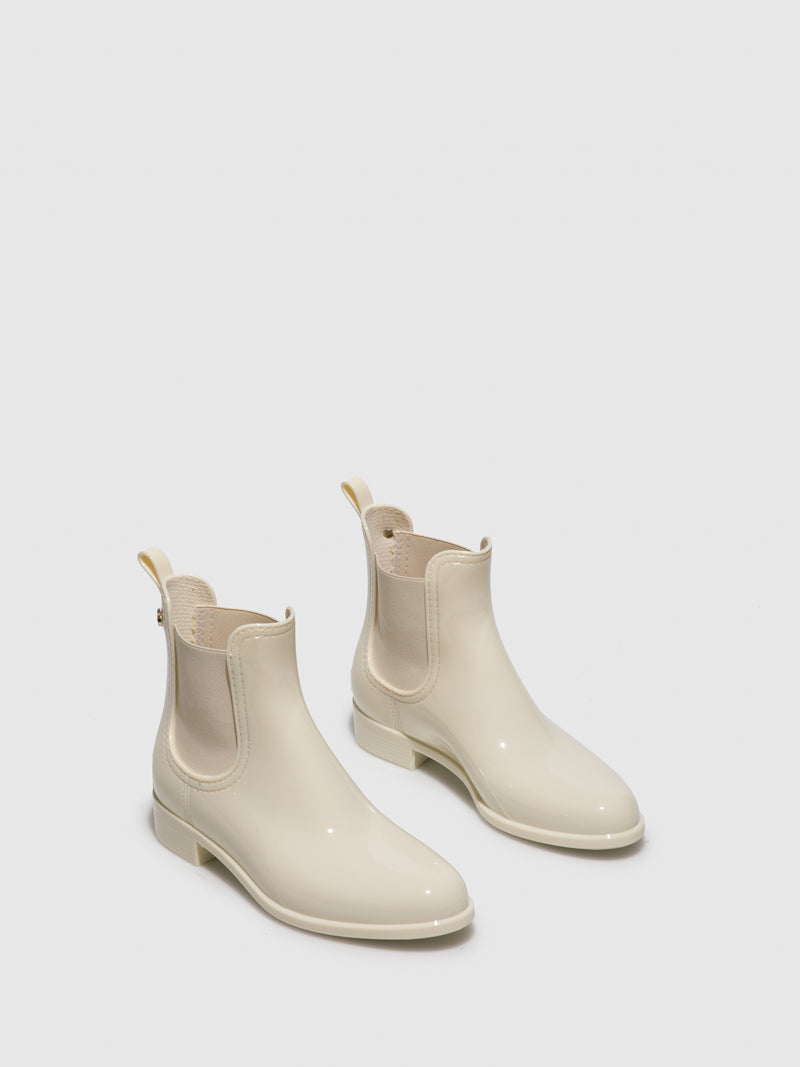 Beige Chelsea Ankle Boots