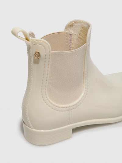 Lemon Jelly Beige Chelsea Ankle Boots