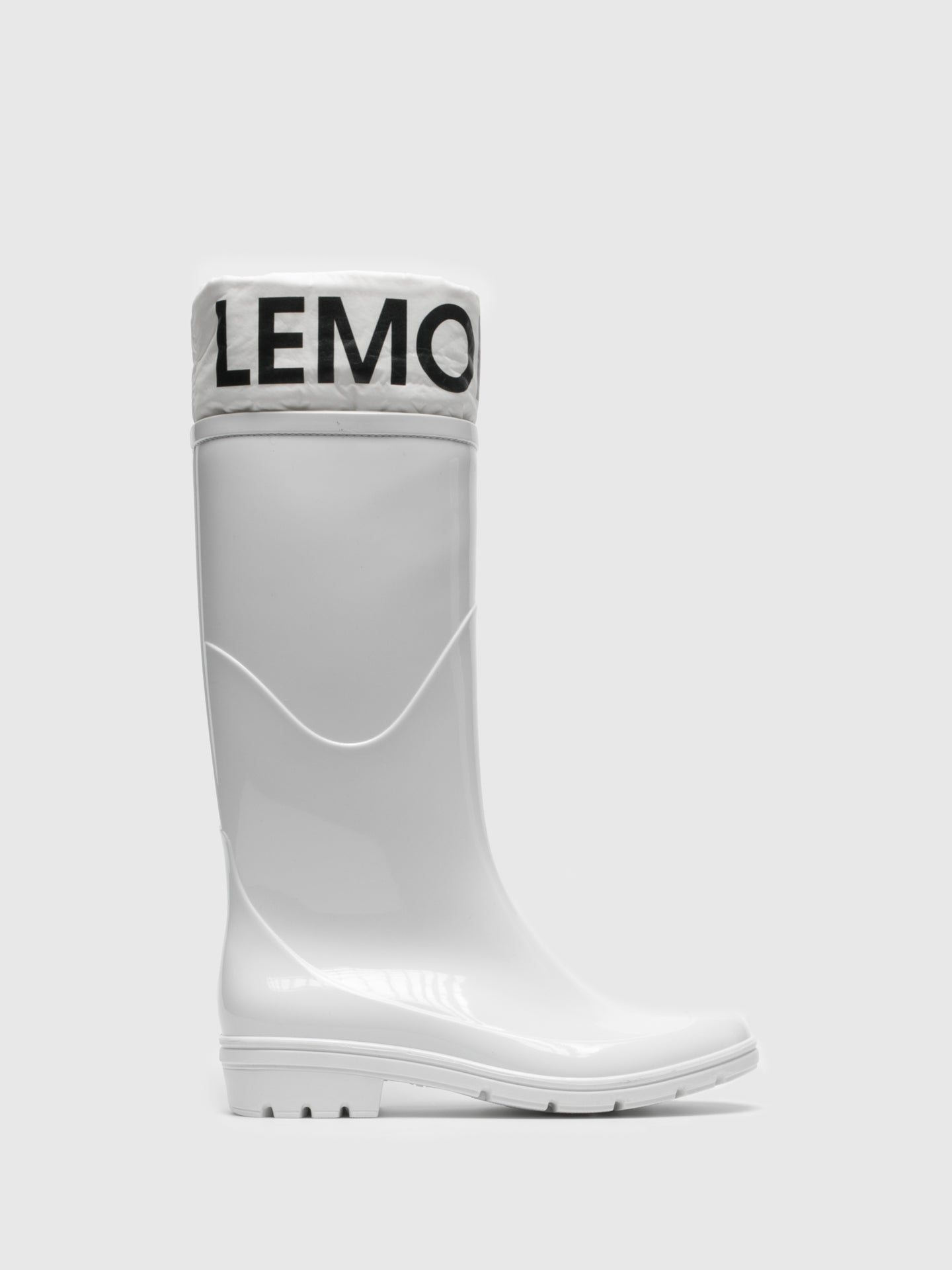 Lemon Jelly White Knee-High Boots
