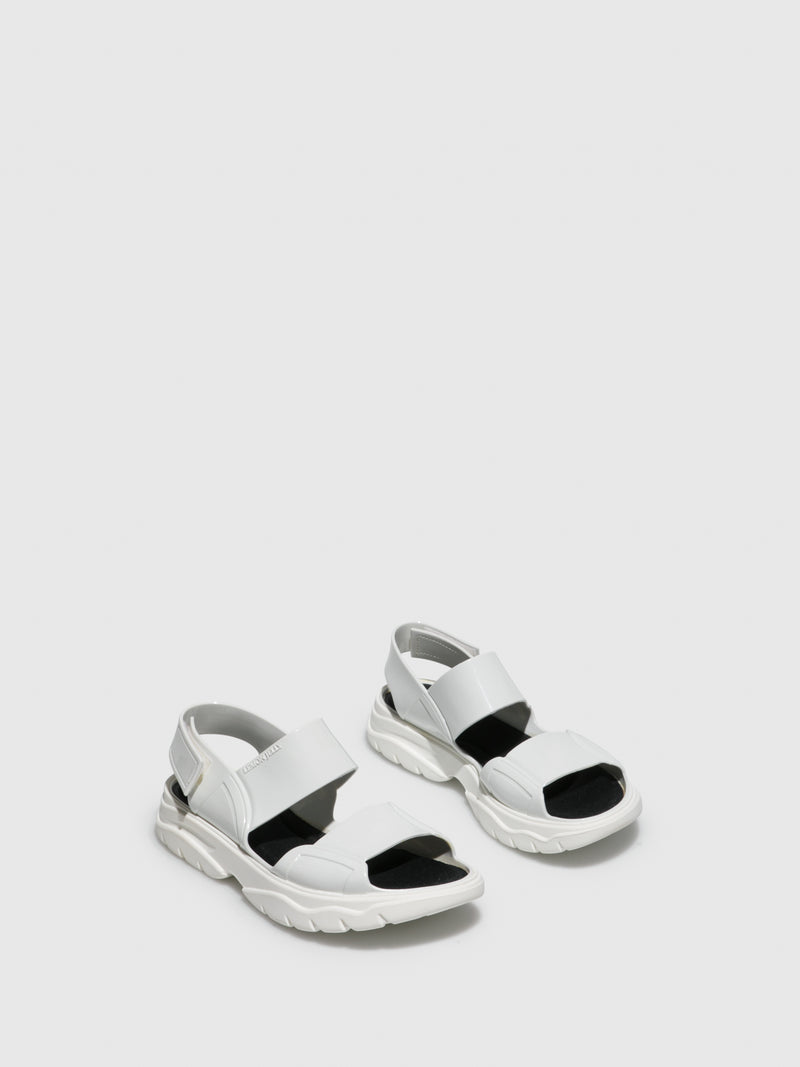 Lemon Jelly White Rubber Sandals