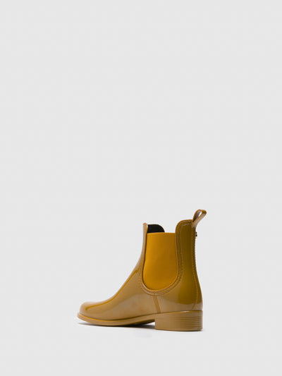 Lemon Jelly Yellow Chelsea Ankle Boots