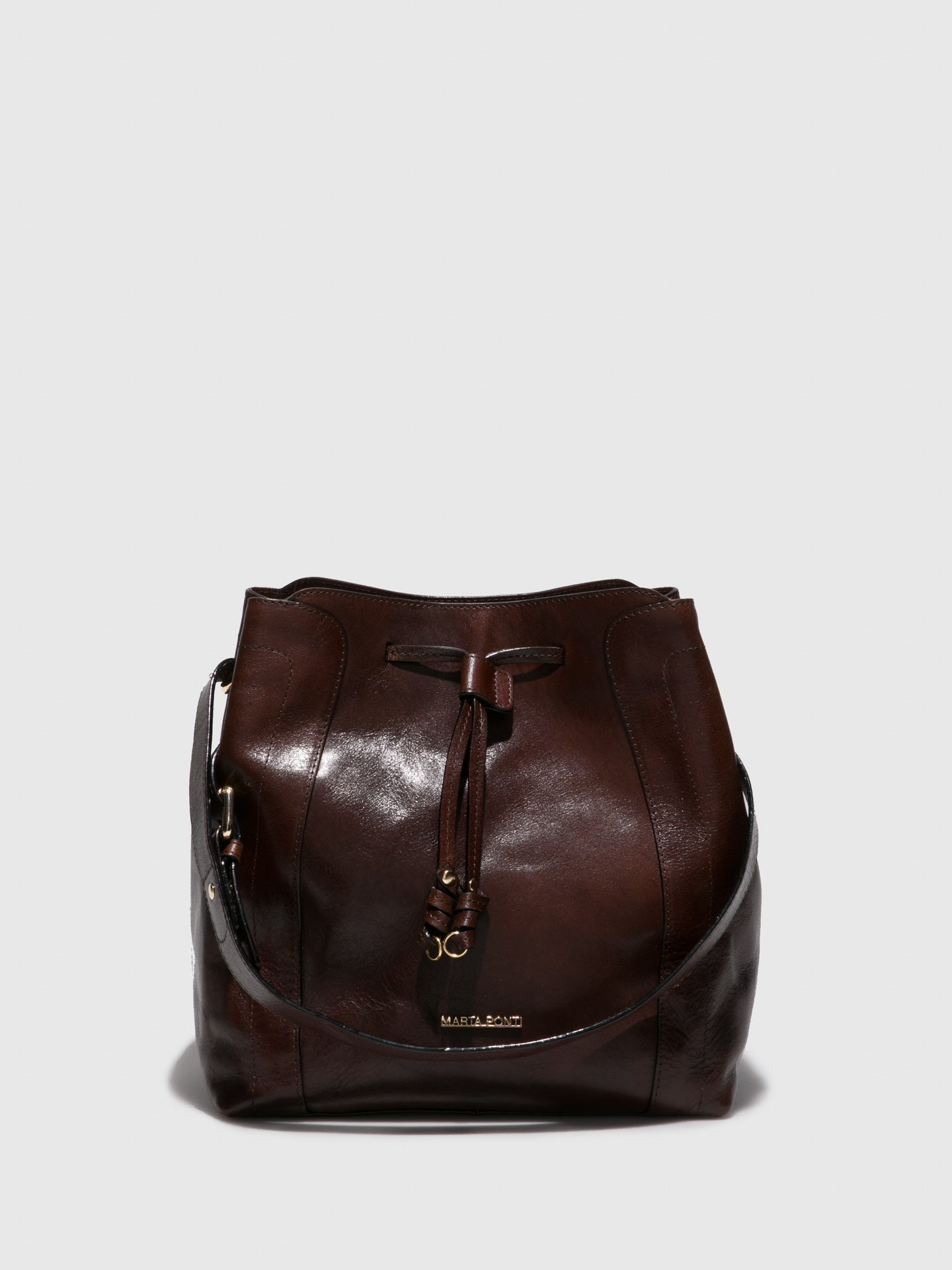 MARTA PONTI Chocolate Shoulder Bag