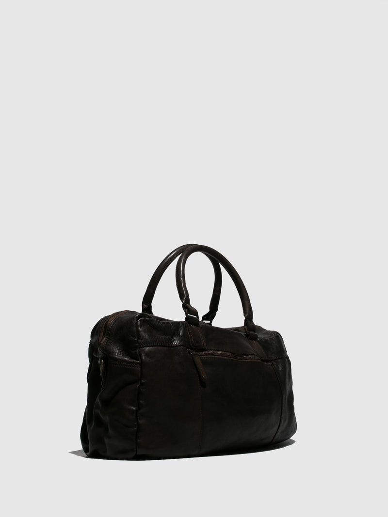 Marta Ponti Brown Weekend Bag