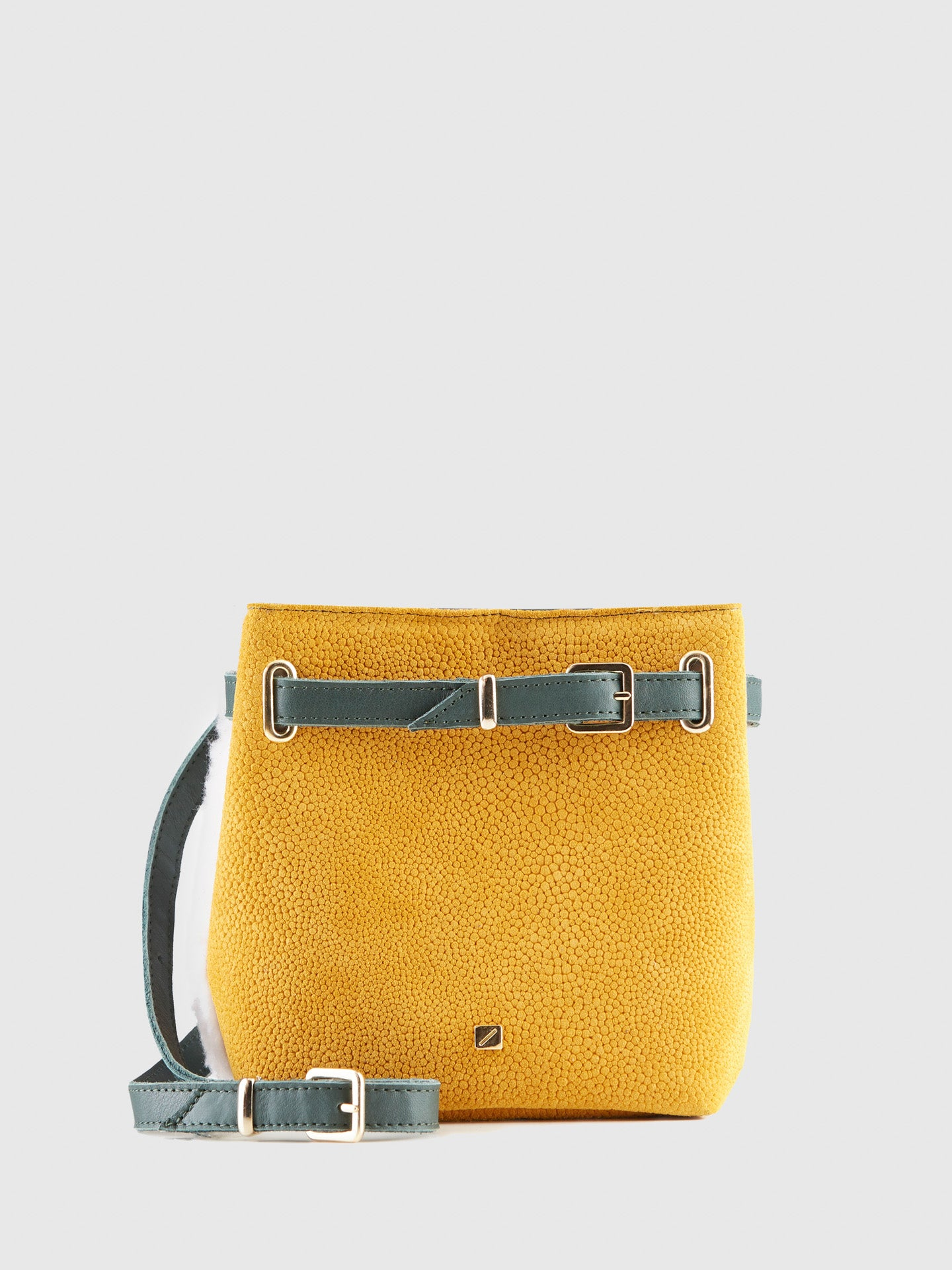 Maria Maleta Yellow and White Reversible Bumbag Bag