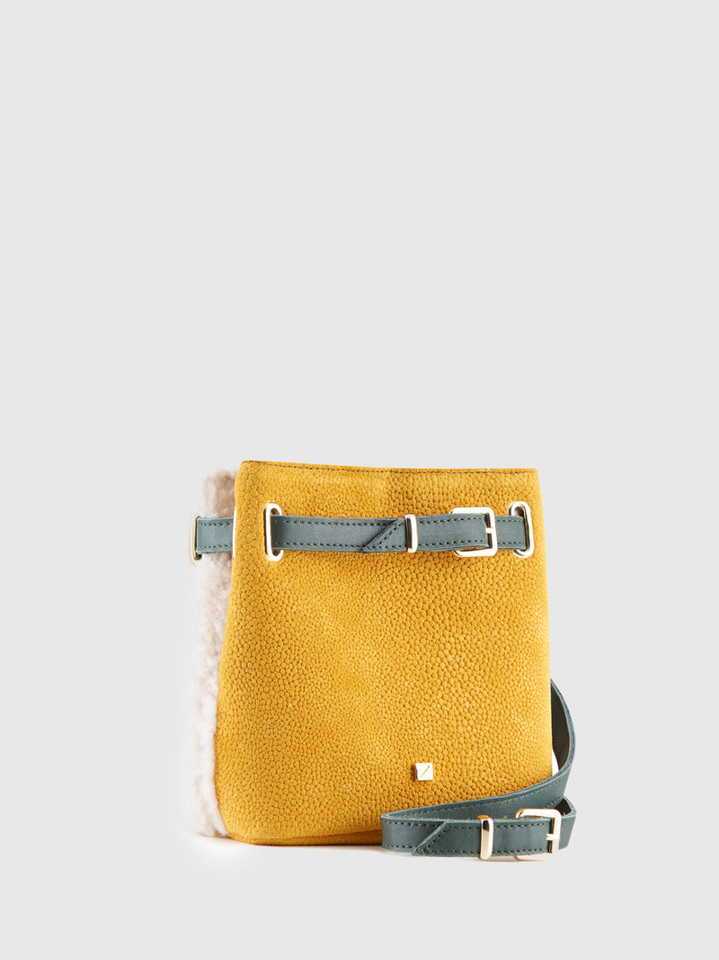 Yellow and White Reversible Bumbag Bag