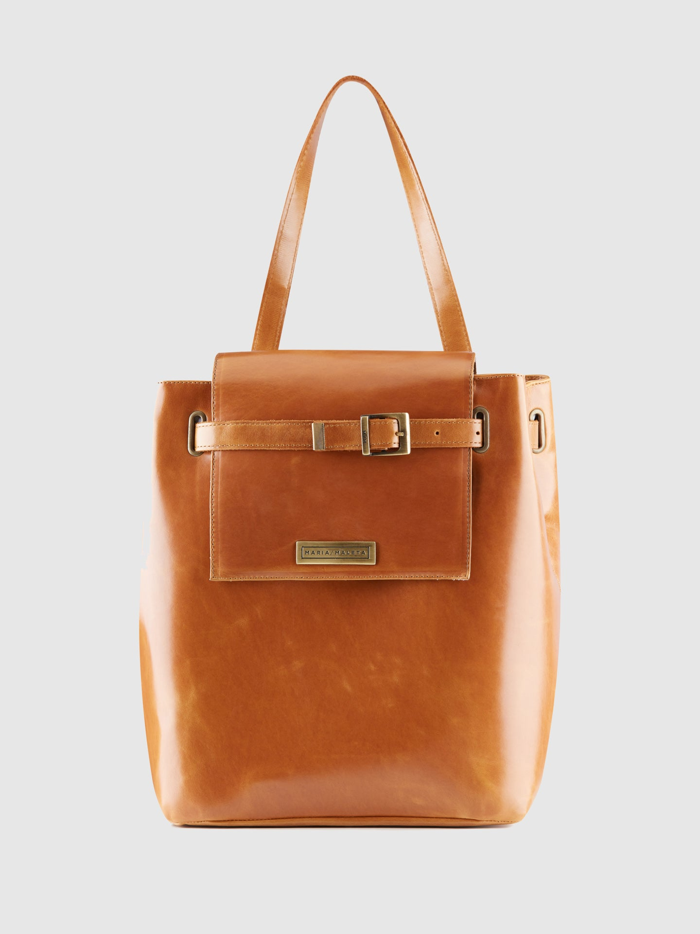 Maria Maleta Brown Leather Shoulder Bag