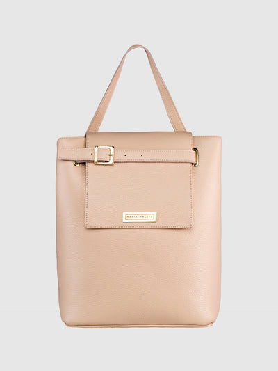 Maria Maleta Nude Shoulder Bag
