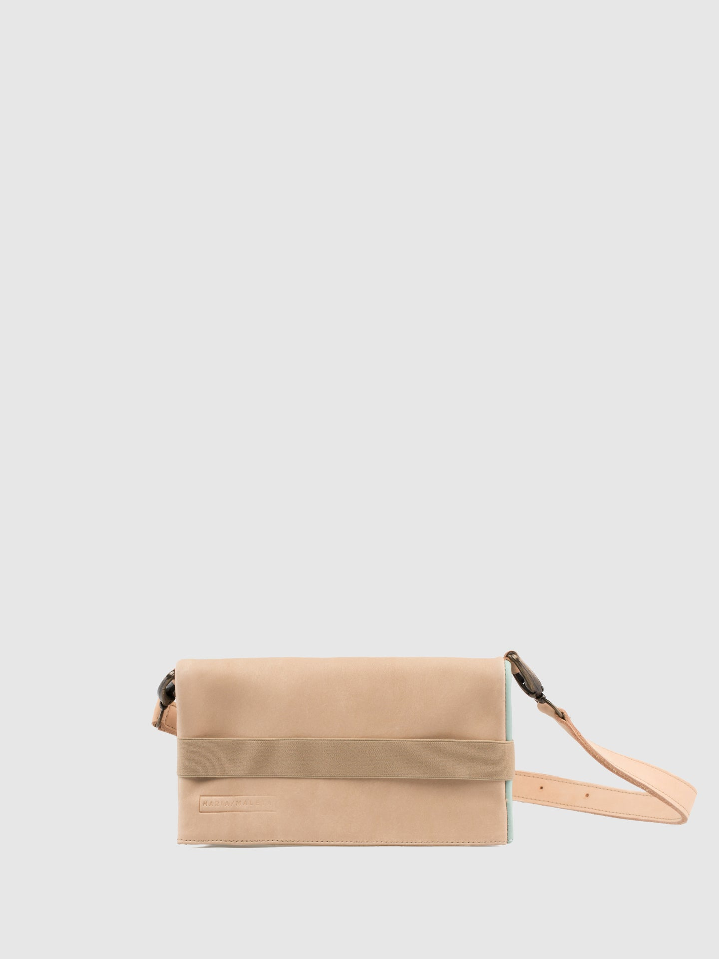 Maria Maleta LightBlue and Beige Reversible Bumbag Bag