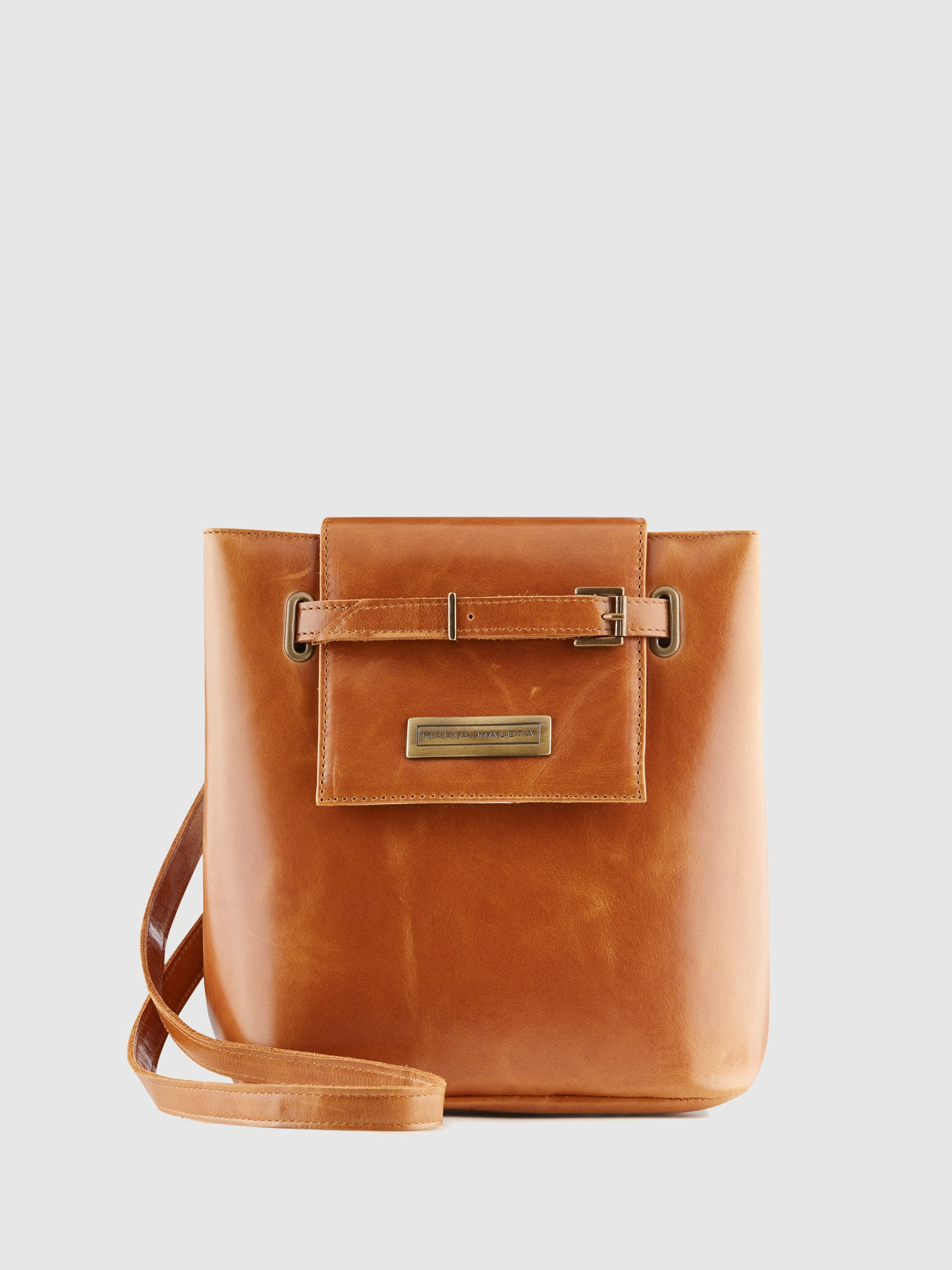 Maria Maleta Brown Leather Crossbody Bag