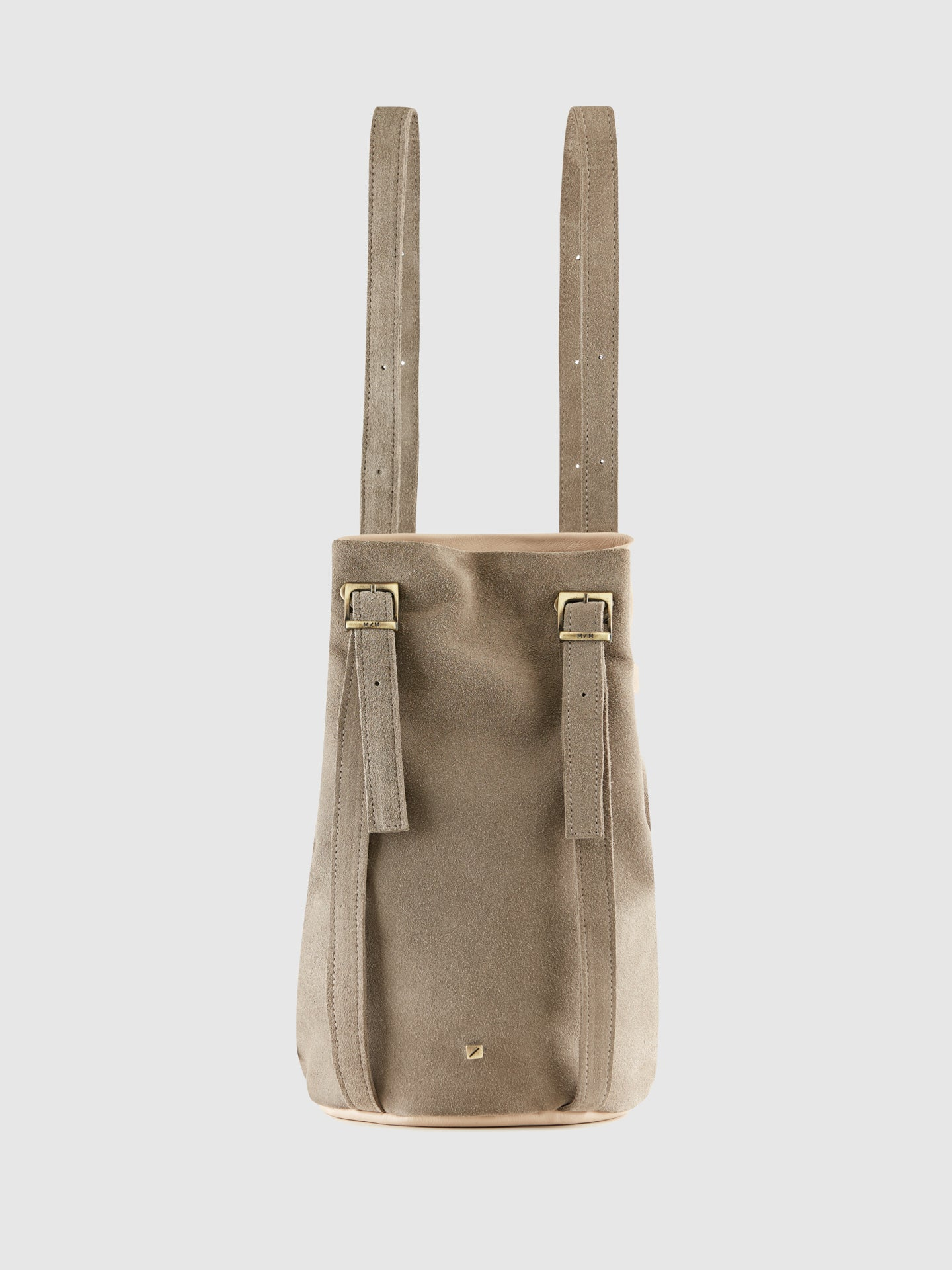 Maria Maleta Pale Pink and Gray Reversible Backpack