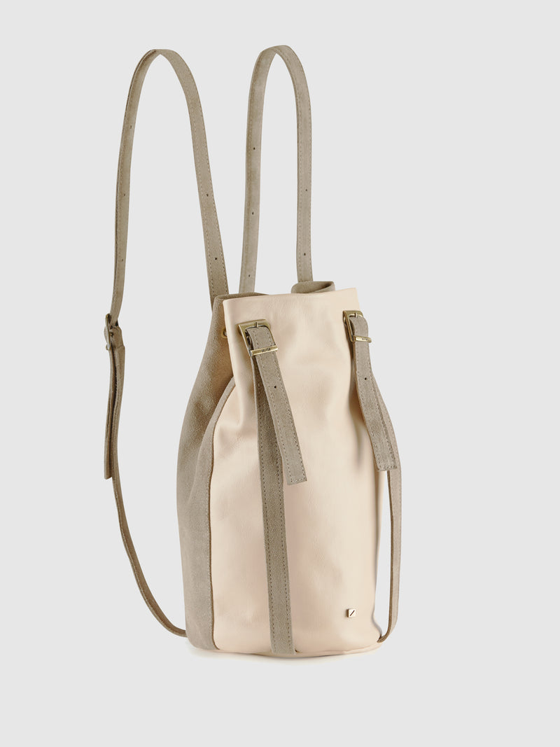 Pale Pink and Gray Reversible Backpack