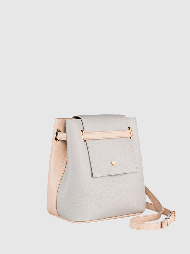 Pale Pink and Gray Crossbody Bag