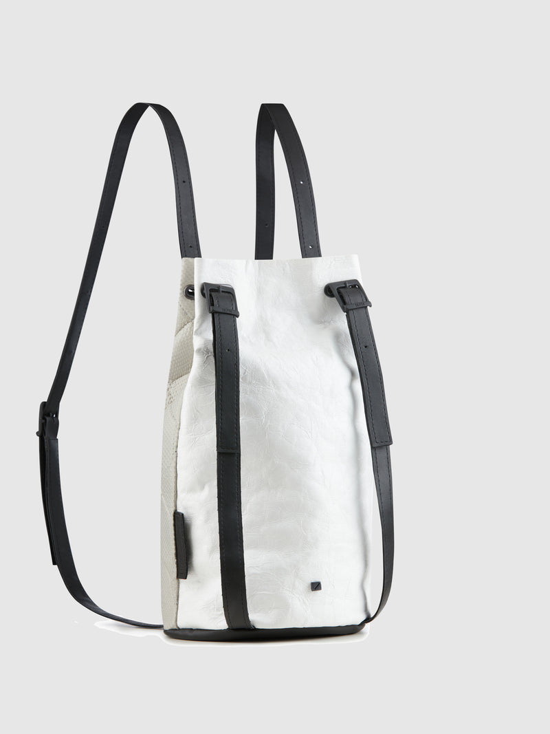 Gray White Reversible Backpack