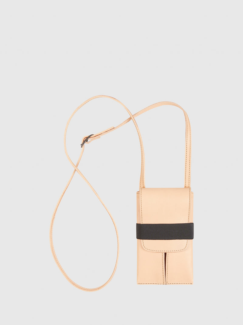 Maria Maleta Beige Leather Crossbody Bag