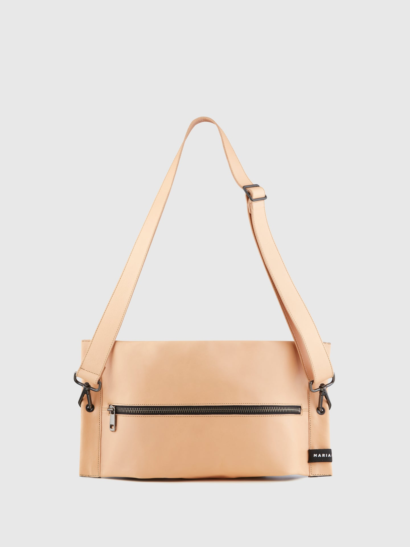 Maria Maleta Beige and Gray Reversible Crossbody Bag