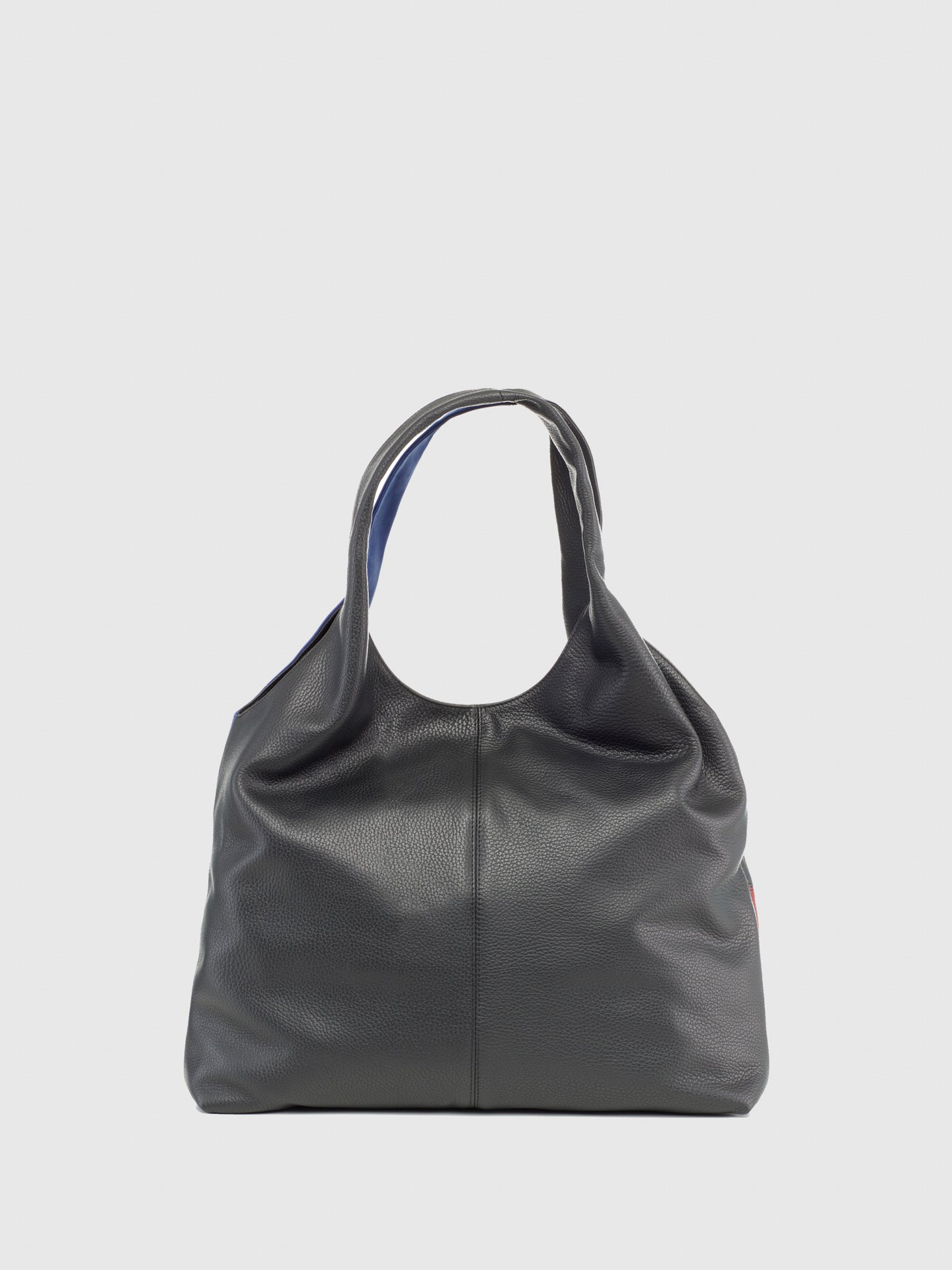Maria Maleta Black Leather Shoulder Bag