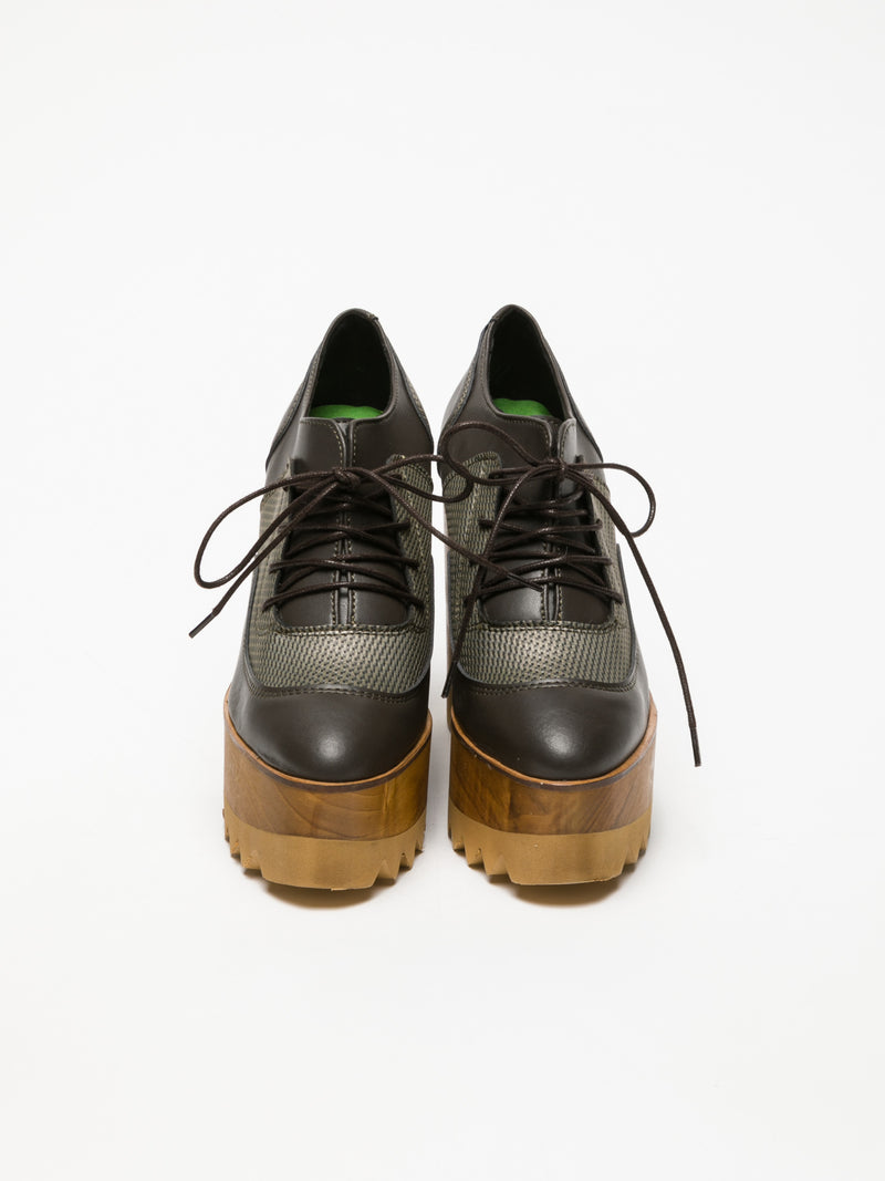 Marita Moreno Brown Lace-up Shoes