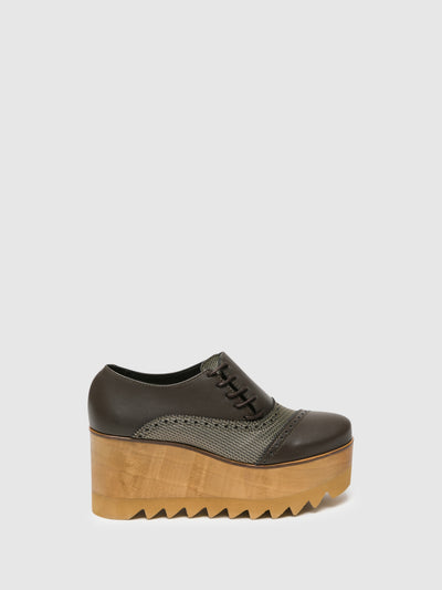 Marita Moreno Brown Platform Shoes