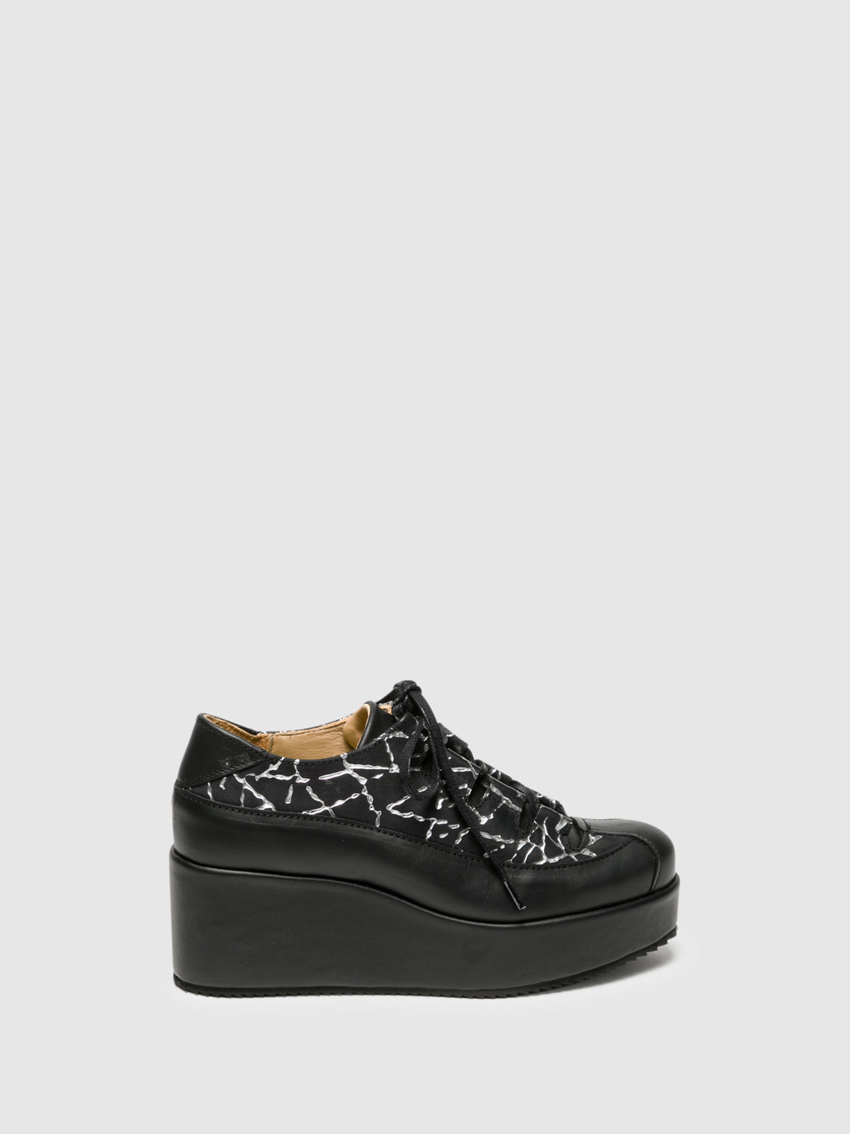 Marita Moreno Black Lace-up Shoes