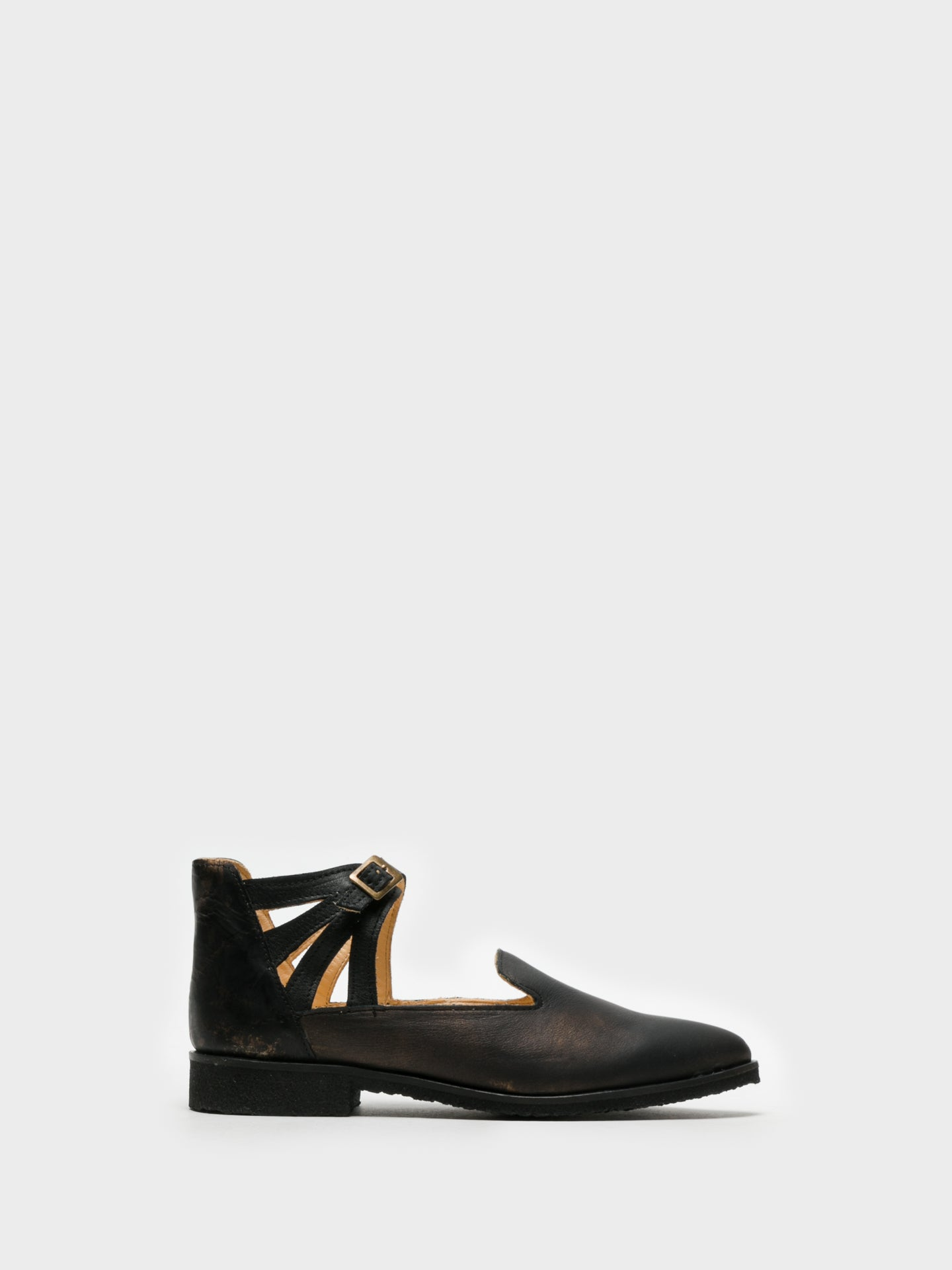 Marita Moreno Black Buckle Shoes