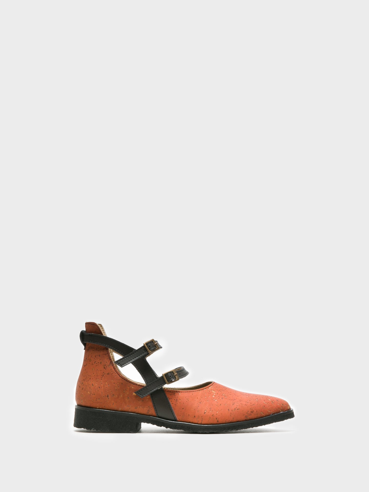 Marita Moreno Orange Buckle Shoes