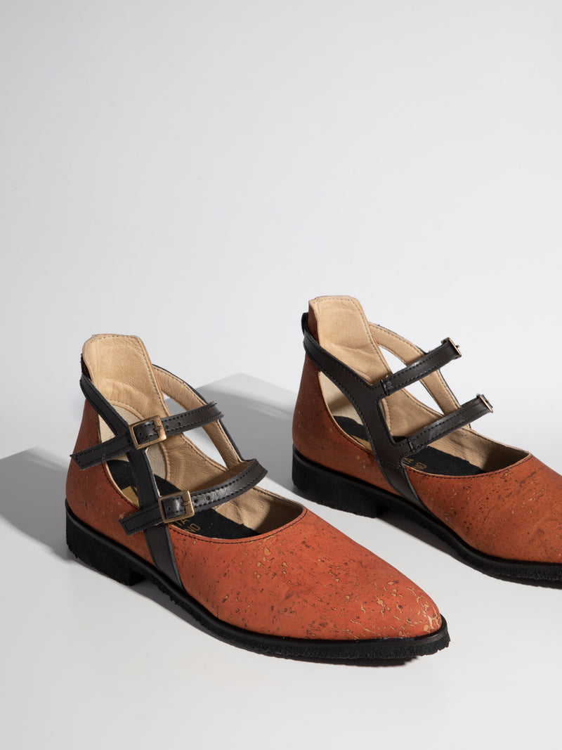 Orange Buckle Shoes