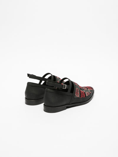 Marita Moreno Black Flat Shoes