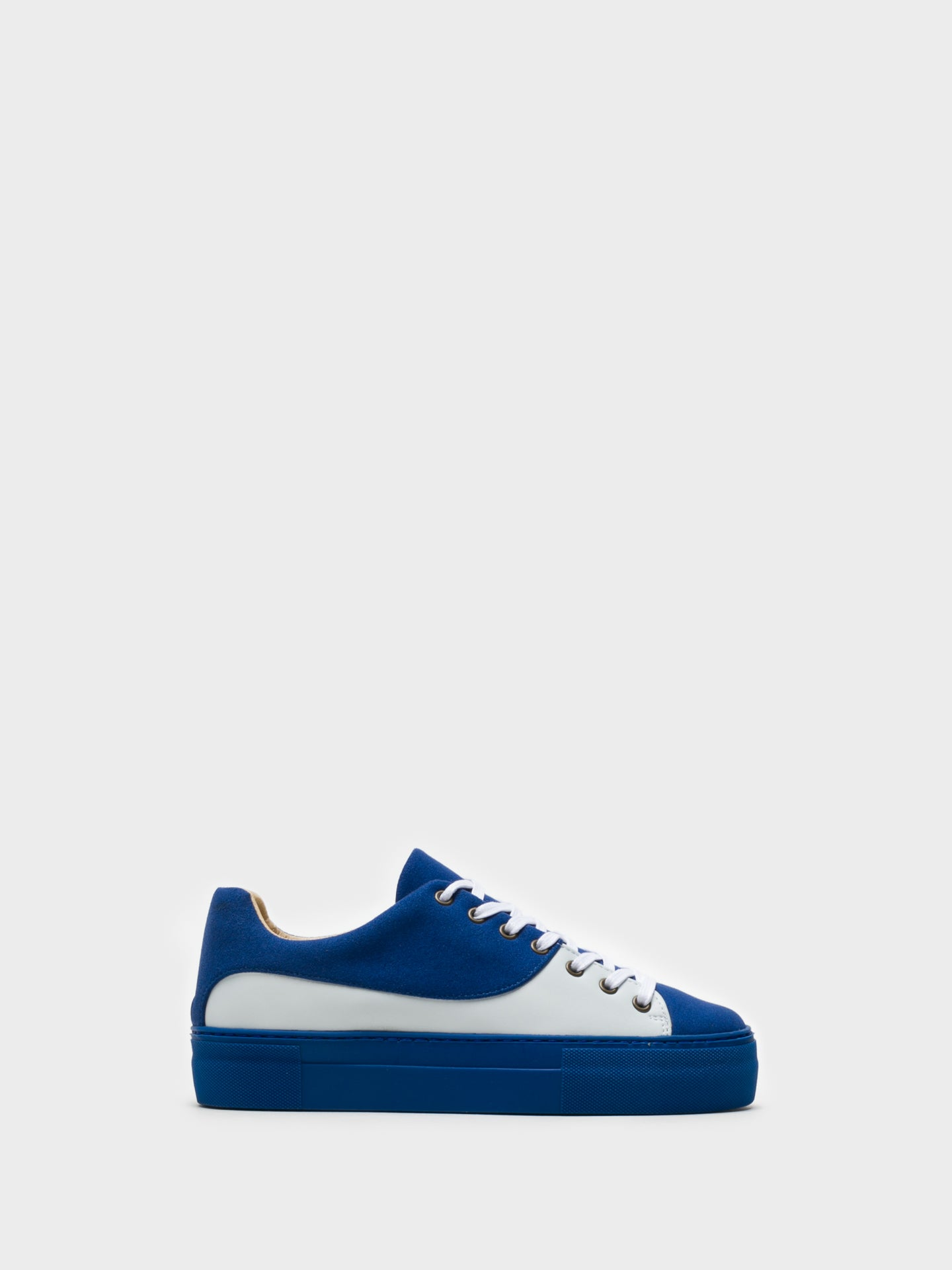Marita Moreno Blue Lace-up Trainers