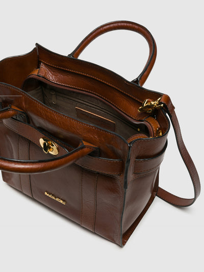 MARTA PONTI Chocolate Brown Handbag