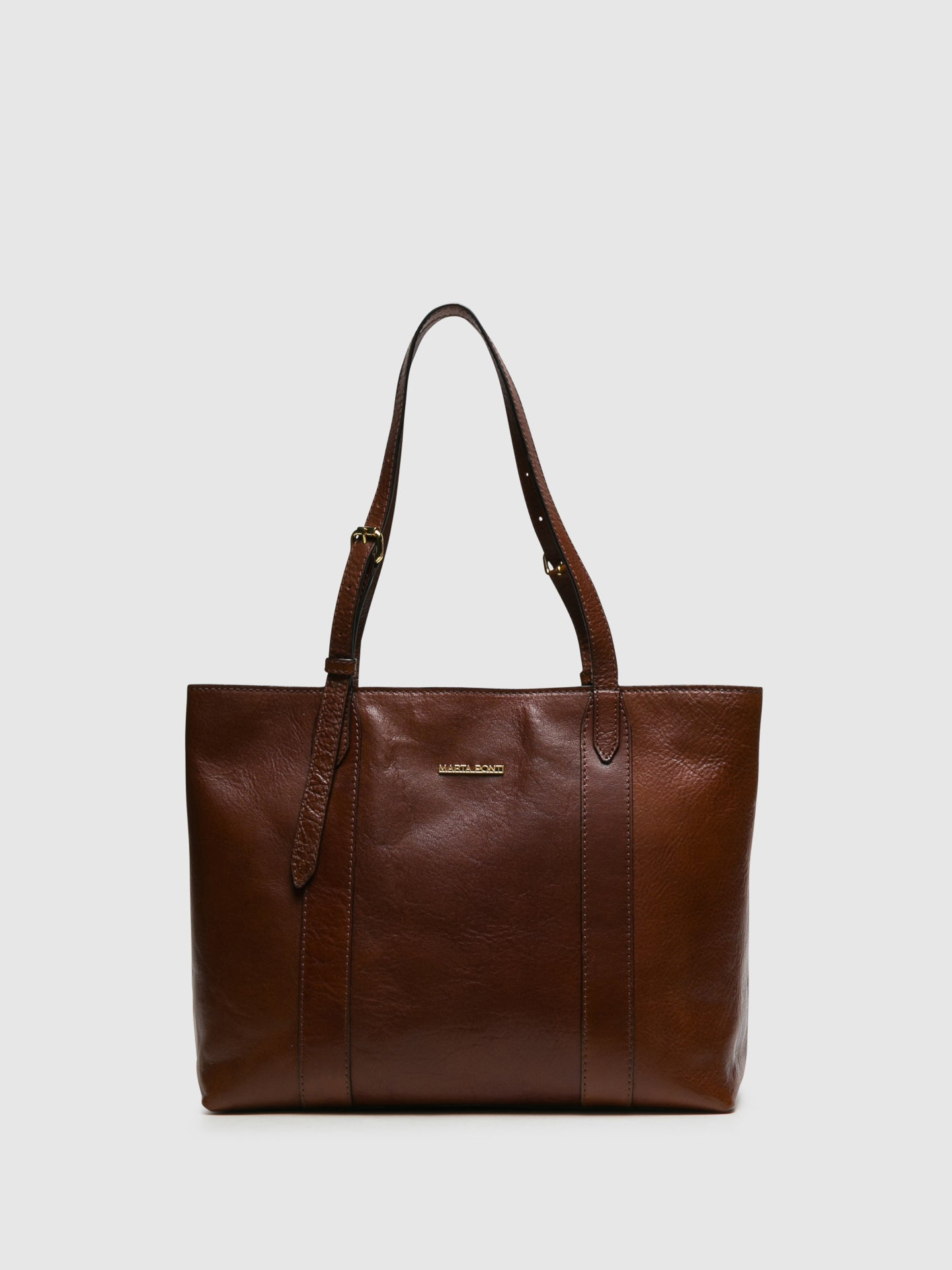 MARTA PONTI Chocolate Brown Shoulder Bag