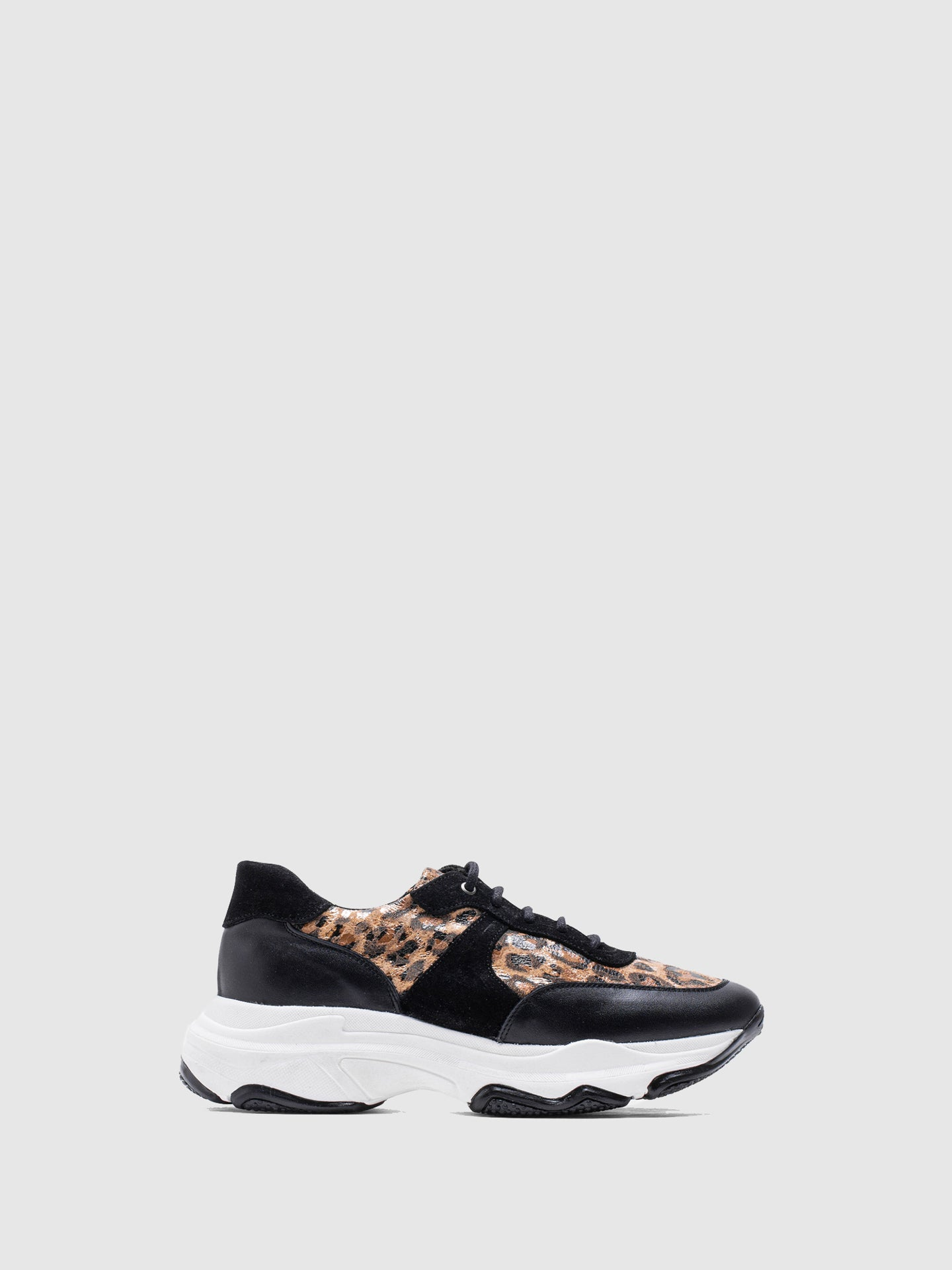 MARILA SHOES Black Lace-up Trainers
