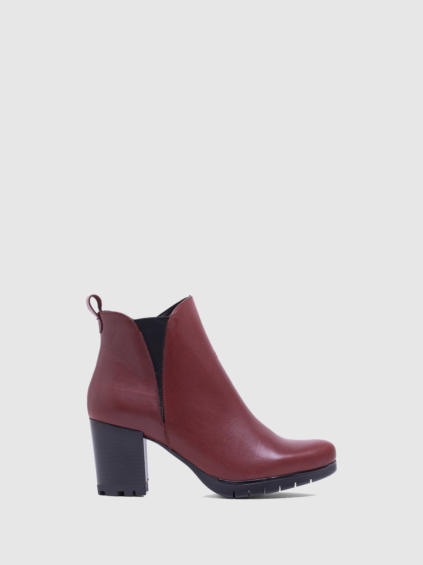 MARILA SHOES DarkRed Elasticated Ankle Boots