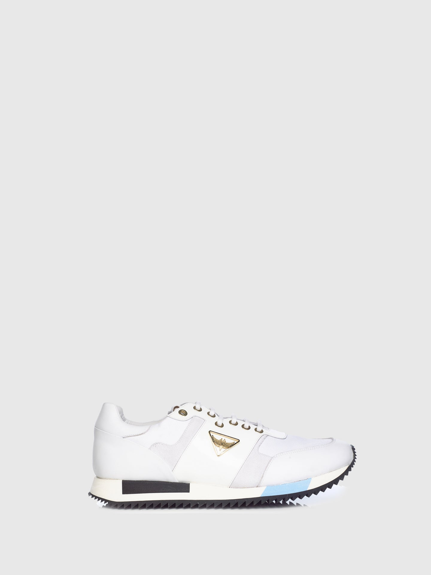 Miguel Vieira White Mix Lace-up Trainers