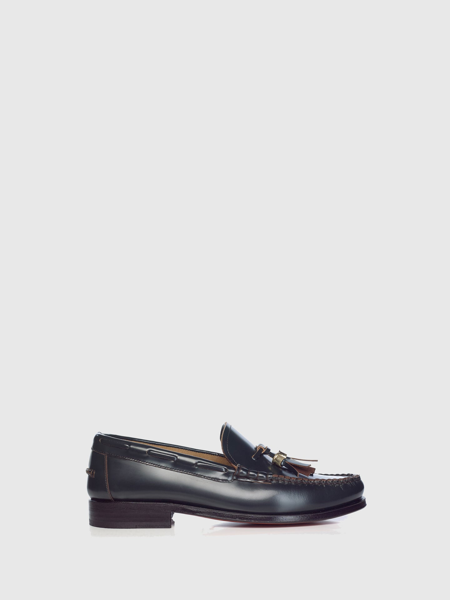 Miguel Vieira Green Metallic Detail Loafers