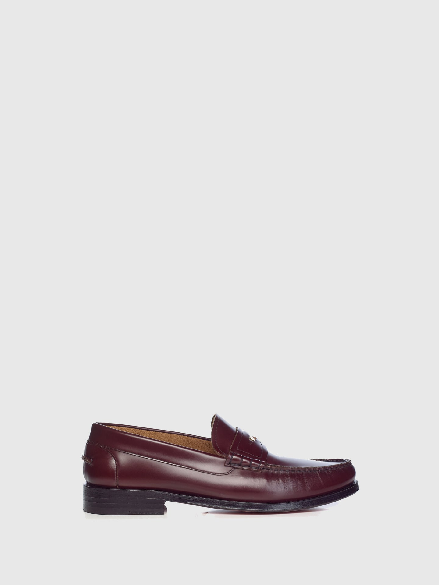 Miguel Vieira Burgundy Metallic Detail Loafers