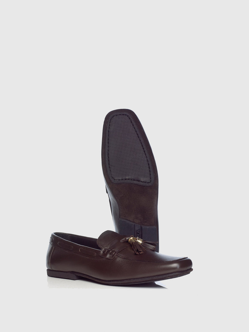 Miguel Vieira Brown Tassel Loafers