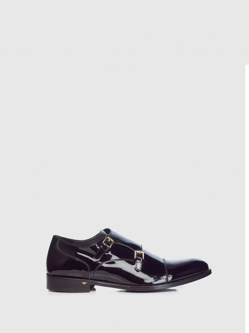 Miguel Vieira Black Double Buckle Shoes