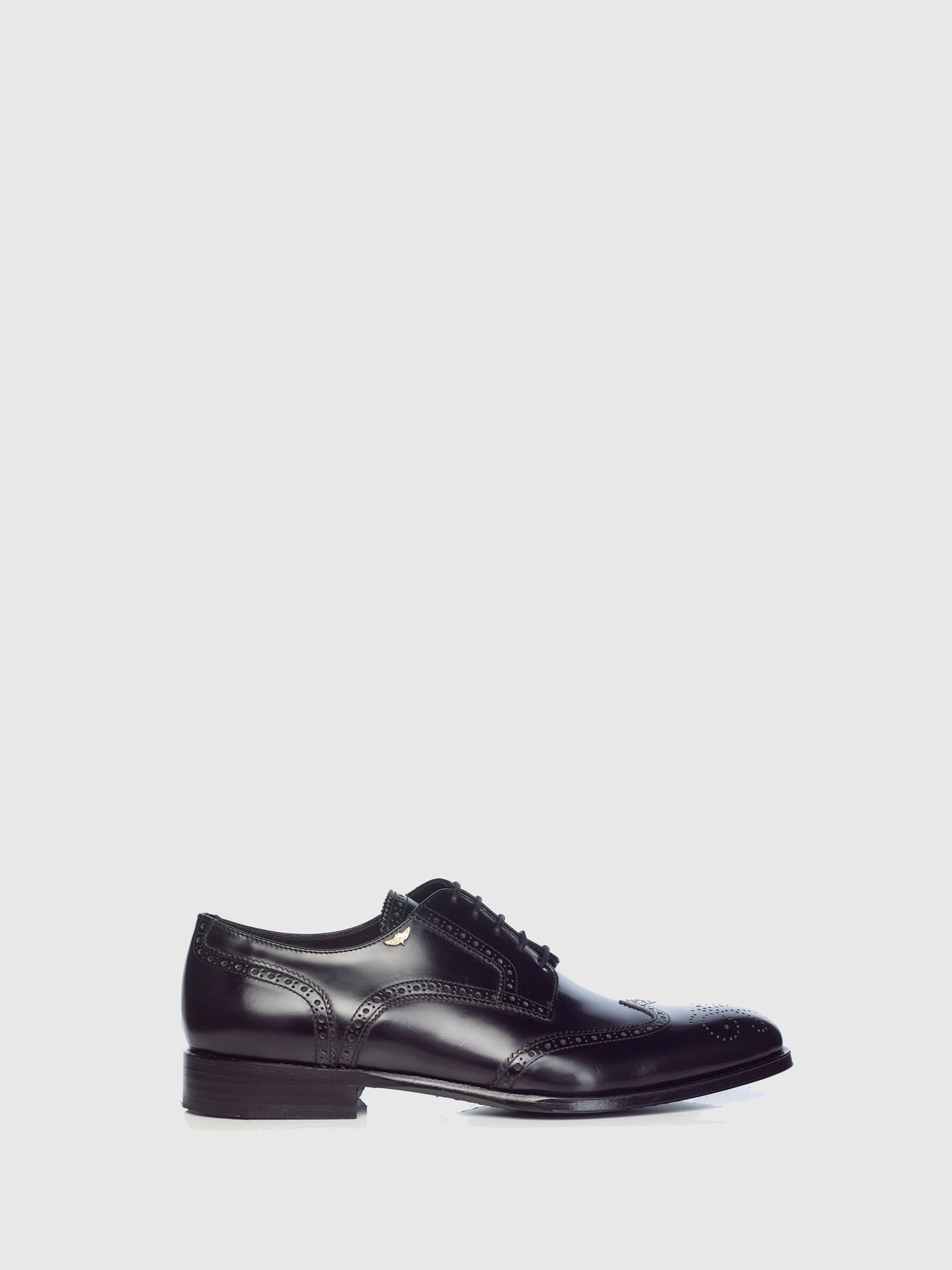 Miguel Vieira Black Derby Brogue Shoes